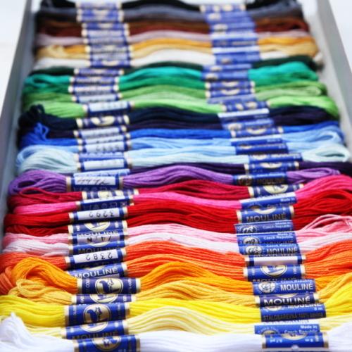 チェコ製リスの刺繍糸セット